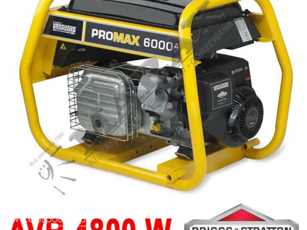 Masywnie Agregat prądotwórczy B&S PROMAX 6000A + AVR 6,0 kVA, moc nom MQ15