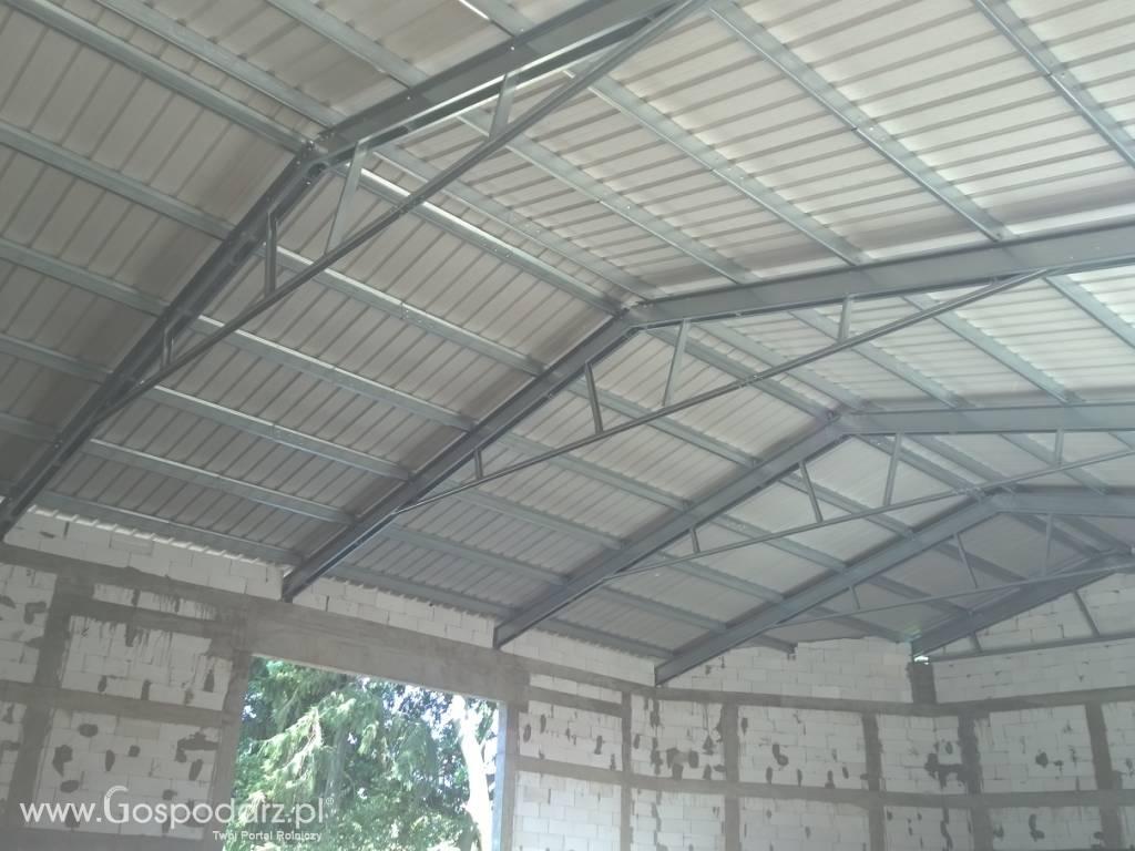 Bardzo dobry Wiązary stalowe-kompletny dach 15mx40m ocynkowany - Konstrukcje DT69
